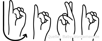 Jiri in Fingersprache für Gehörlose