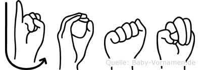 Joan in Fingersprache für Gehörlose