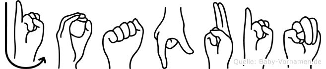 Joaquin im Fingeralphabet der Deutschen Gebärdensprache