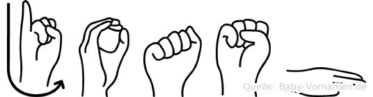 Joash im Fingeralphabet der Deutschen Gebärdensprache