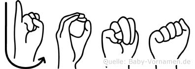 Jona in Fingersprache für Gehörlose