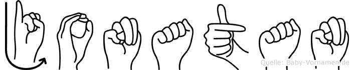 Jonatan im Fingeralphabet der Deutschen Gebärdensprache
