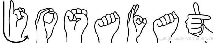Josafat im Fingeralphabet der Deutschen Gebärdensprache