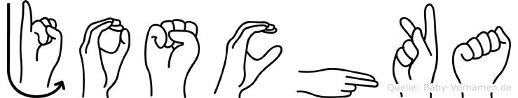 Joschka im Fingeralphabet der Deutschen Gebärdensprache
