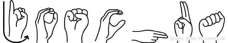 Joschua im Fingeralphabet der Deutschen Gebärdensprache