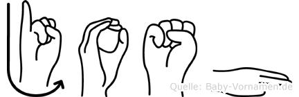 Josh in Fingersprache für Gehörlose