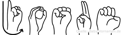 Josue in Fingersprache für Gehörlose