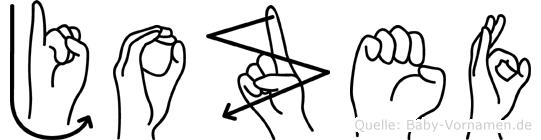 Jozef im Fingeralphabet der Deutschen Gebärdensprache