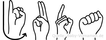 Juda im Fingeralphabet der Deutschen Gebärdensprache