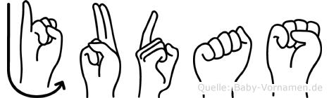 Judas in Fingersprache für Gehörlose