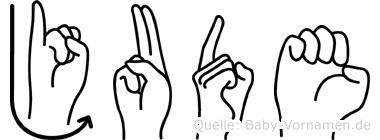 Jude im Fingeralphabet der Deutschen Gebärdensprache