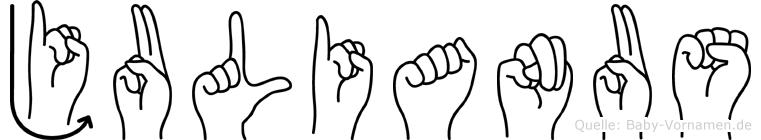 Julianus in Fingersprache für Gehörlose