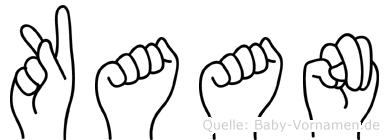 Kaan in Fingersprache für Gehörlose