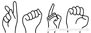 Kade im Fingeralphabet der Deutschen Gebärdensprache