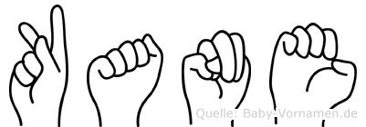 Kane im Fingeralphabet der Deutschen Gebärdensprache