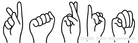 Karim in Fingersprache für Gehörlose
