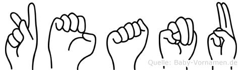 Keanu im Fingeralphabet der Deutschen Gebärdensprache