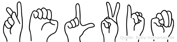 Kelvin in Fingersprache für Gehörlose