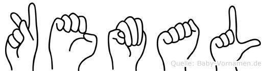 Kemal im Fingeralphabet der Deutschen Gebärdensprache