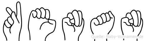 Kenan im Fingeralphabet der Deutschen Gebärdensprache