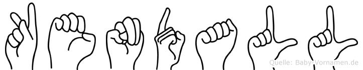 Kendall in Fingersprache für Gehörlose
