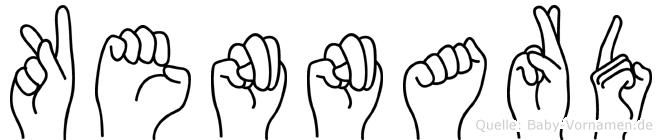 Kennard im Fingeralphabet der Deutschen Gebärdensprache