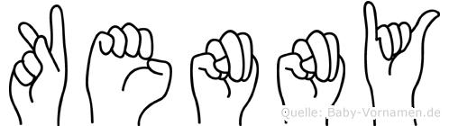 Kenny in Fingersprache für Gehörlose