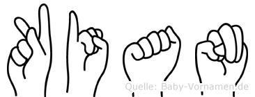 Kian in Fingersprache für Gehörlose