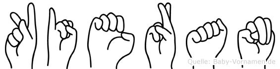 Kieran in Fingersprache für Gehörlose