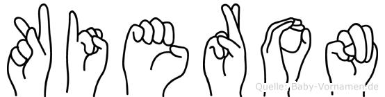 Kieron im Fingeralphabet der Deutschen Gebärdensprache