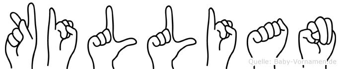Killian in Fingersprache für Gehörlose