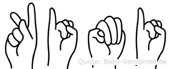 Kimi im Fingeralphabet der Deutschen Gebärdensprache