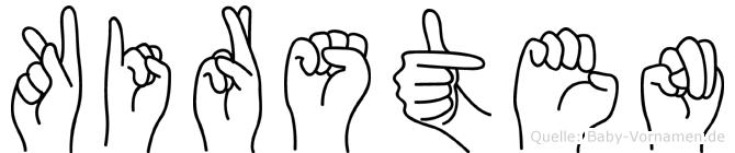 Kirsten in Fingersprache für Gehörlose