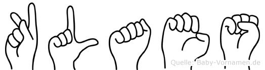 Klaes in Fingersprache für Gehörlose