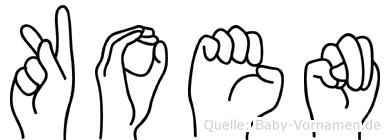 Koen in Fingersprache für Gehörlose
