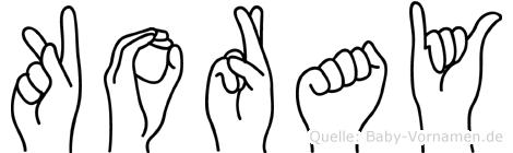 Koray in Fingersprache für Gehörlose