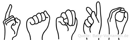 Danko in Fingersprache für Gehörlose