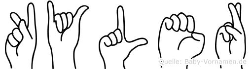 Kyler in Fingersprache für Gehörlose