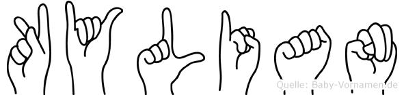 Kylian im Fingeralphabet der Deutschen Gebärdensprache