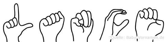 Lance im Fingeralphabet der Deutschen Gebärdensprache