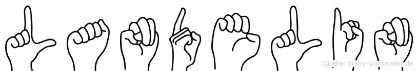 Landelin in Fingersprache für Gehörlose