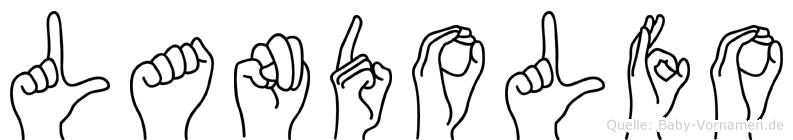 Landolfo im Fingeralphabet der Deutschen Gebärdensprache
