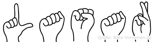 Lasar im Fingeralphabet der Deutschen Gebärdensprache