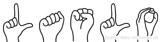 Laslo im Fingeralphabet der Deutschen Gebärdensprache