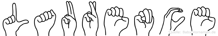 Laurence im Fingeralphabet der Deutschen Gebärdensprache