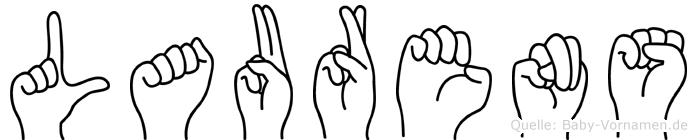 Laurens im Fingeralphabet der Deutschen Gebärdensprache