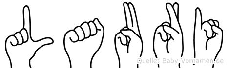 Lauri im Fingeralphabet der Deutschen Gebärdensprache