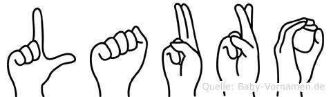 Lauro im Fingeralphabet der Deutschen Gebärdensprache