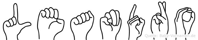 Leandro in Fingersprache für Gehörlose