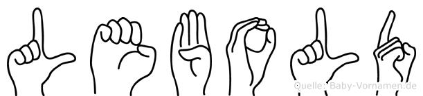 Lebold in Fingersprache für Gehörlose